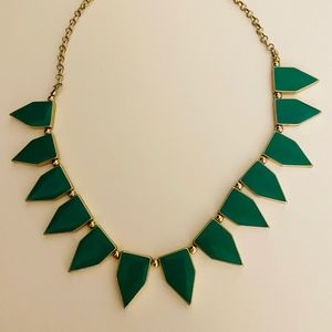 Green Enamel Necklace